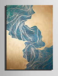 E-HOME Oil painting Modern Abstract Green Stone Mountain Pure Hand Draw Frameless Decorative Painting