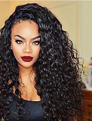 estilo de la moda del cabello natural ondulado de color negro estilo rizado pelucas pelucas brasileñas del pelo humano virginal sin cola