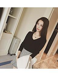 новая корейская нить кнопки v-образным вырезом тонкий свитер тонкий свитер дна женский