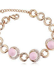 Women's Chain Bracelet Crystal Natural Pearl Austria Crystal Circle Jewelry For Gift