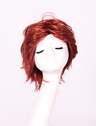 Women Short Wig Red Curly Synthetic Wigs For Black Women