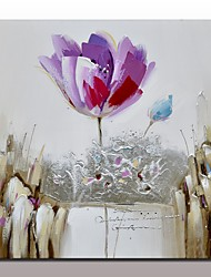 Hand-Painted Modern Abstract Purple Flower Paintings On Canvas Unframed Home Decor Painting Calligraphy Handpainted Knife Oil Painting Flower