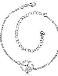 Bracelet de cheville/Bracelet Zircon Plaqué argent Alliage Amitié Mode Vintage Bohême Style Punk Hip-Hop Turc Forme de Noeud ArgentAux