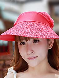 Women Summer Sunscreen Beach Outdoor Pick Tea-leaves Lace Empty Sun Big Brim Hat