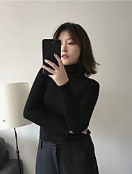 firmar delgado fue espigado de la mujer suéter elegante collar de núcleo hilado suéter angora tocar fondo coreano