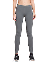 Vansydical® Women's Running Leggings Bottoms Quick Dry Spring Summer Running Terylene Loose Outdoor clothing Dark Gray Classic
