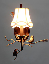 North Amercian Vintage Metal with Resin Bird and Pine Cone Wall Lamp Fit for the Living Room / Dining Room Wall Light