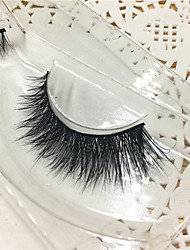Eyelashes 3D mink Full Strip Lashes Eyes Thick Lifted lashes  Handmade Animal wool eyelash Black Band  M09