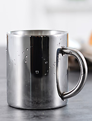 Minimalism Drinkware, 250 ml Simple Geometric Pattern Stainless Steel Juice Milk Coffee Mug