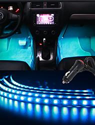 30cmx4 rgb coche de control tiras música flexibles atmósfera interior luz luz reposapiés