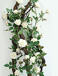 165CM  High Quality Lint Rose Flower Vine Hemming Aestheticism Modelling Home Improvement Artificial Flowers