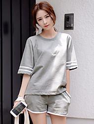 coréen version de sport occasionnels costume été à manches courtes verges grandes femme short de jogging en vrac sport pièce