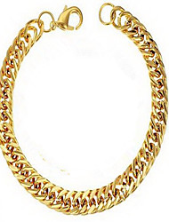 Men's Chain Bracelet 18K gold Alloy Natural Fashion Round Gold Jewelry 1pc