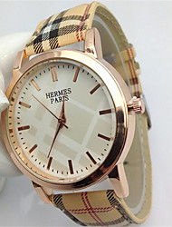 Fashion Watch Quartz Leather Band Casual Multi-Colored Strap Watch