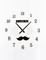 DIY Lovely Beard Mute Wall Clock