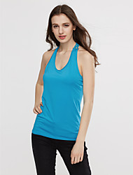 Women's Holiday Simple Tank Top,Solid Round Neck Sleeveless Blue / Red / White / Black / Purple Cotton Thin