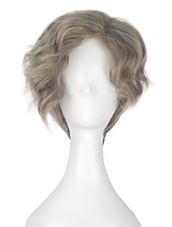 Beauty and the Beast Maurice Men Adult Short Wavy Grey Color Movie Cosplay Costume Party Full Wig