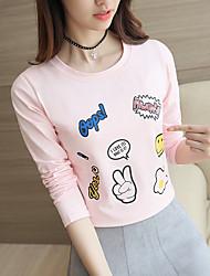 unterzeichnen im Frühjahr 2017 neue Frauen&# 39; s Langarm-T-Shirt weiblichen koreanischen dünnen grundiert kleinen T-Shirt