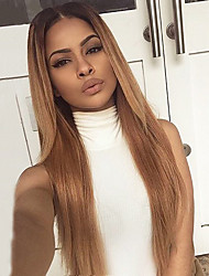Ombre T1B/27# Color Human Hair Lace Wigs Silky Straight Hair 130% Density Brazilian Virgin Hair Full Lace Wigs For Black Woman
