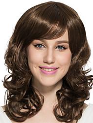 Mujer Pelucas sintéticas Sin Tapa Produndo Castaño dorado Peluca natural Las pelucas del traje