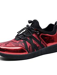 Herren-Sportschuhe-Outddor Lässig Sportlich-PVC StoffKomfort paar Schuhe-Schwarz Silber Rot