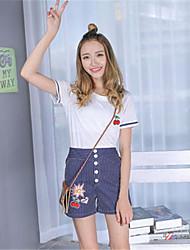 регистрация 2016 новых корейских женщины полосатой широкой ноги брюки костюм из двух частей коротких рукавов футболки + высокая талии шорт