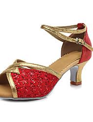 Для женщин-Дерматин Лакированная кожа Лак-Персонализируемая(Красный Серебро Золотистый Черное золото) -Латина