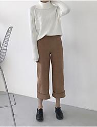 знак 2017 корейской версии пружинных моделей замшевой семь широких брюк ноги женщина свободно широкая нога пыхтение притока студентов
