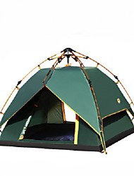 3-4 persons Double Automatic Tent One Room Camping TentHiking Camping Traveling-Army Green
