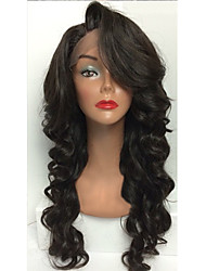 Body Wave Human Hair Full Lace Wigs Black #1 B Body Wave Glueless Full Lace Wigs For Woman With Baby Hair