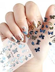 24pcs Adesivos para Manicure Artística Autocolantes de Unhas 3D maquiagem Cosméticos Designs para Manicure