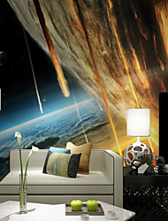 Art Deco Wallpaper For Home Wall Covering Canvas Adhesive Required Mural Colored Meteor Universe World XXXL(448*280cm)