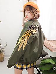 Sign 2017 Korean Heavy embroidery wings zipper baseball uniform jacket coat female