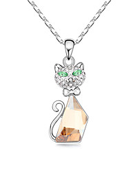 Women's Pendant Necklaces Crystal Animal Shape Chrome Animal Design Cute Style Jewelry For Birthday Thank You Gift 1pc