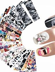 12PCS Adesivos para Manicure Artística Decalques de transferência de água Autocolantes de Unhas 3D maquiagem CosméticosDesigns para