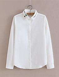 printemps nouveau marée de fans korean blouses ol professionnelles col de chemise blanche à manches longues blouse chemise