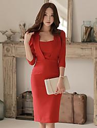 2015 Hitz Korean women ladies dress sleeve dress Slim package hip dress