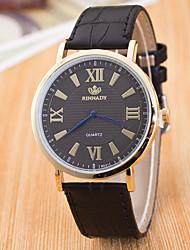 Men's New Waterproof Leather Strap Geneva Quartz Watch