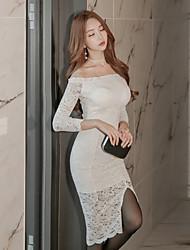 Version coréenne en 2017 de la nouvelle robe fissure fine