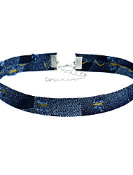 Choker Necklaces Jewelry Fabric Square Euramerican Fashion Dark Blue Jewelry Special Occasion Daily Casual 1pc