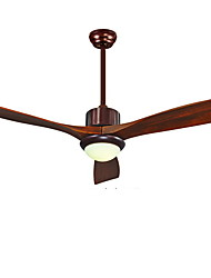 52 inch Ceiling Fan Led Ceiling Light with 3 Wood Blades for LivingRoom Dinning Room