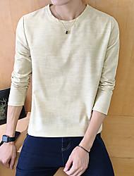 60% -p35 Rundhals Langarm T-Shirt Männer Baumwolle, Hanf und 40% Orange Hotel