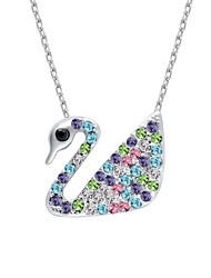 Women's Pendant Necklaces Crystal Chrome Animal Design Fashion Adorable Personalized Cute Style Jewelry For Wedding Party Congratulations