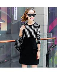 printemps nouvelles femmes coréennes section mince longue robe de couleur unie 2017 nouvelle marée jupe de base