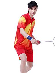 Conjuntos de Roupas/Ternos(Amarelo Vermelho Azul) -Unissexo-Respirável Confortável-Badminton