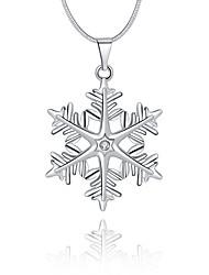 Women's Pendant Necklaces Crystal Geometric Snowflake Sterling Silver Crystal Imitation Diamond Basic Unique Design Logo Style Dangling