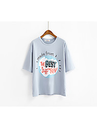 Really making large circles printed short-sleeved T-shirt