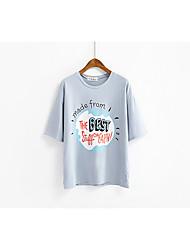 Wirklich große Kreise gedruckt kurz-sleeved T-Shirt