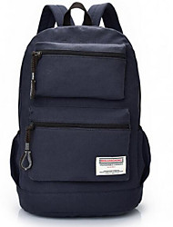 Men Canvas Casual Backpack Dark Blue