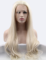 Sylvia Synthetic Lace front Wig  Blonde Heat Resistant Long Straight Synthetic Wigs